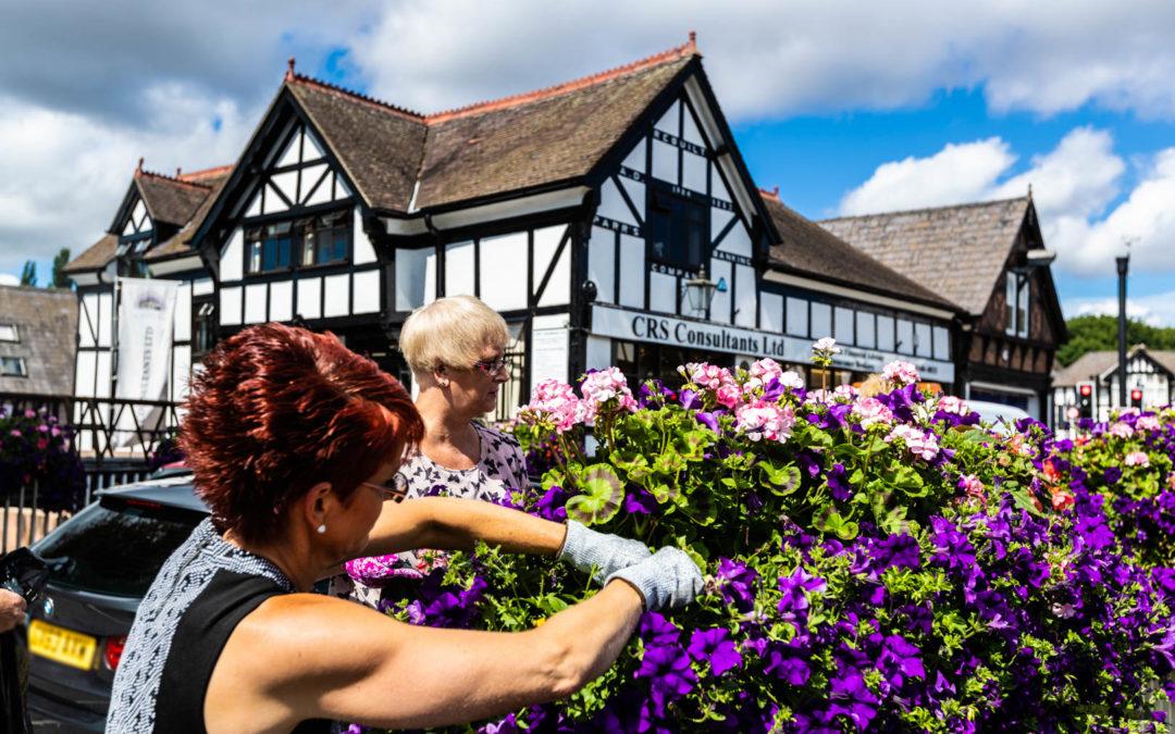 Northwich In Bloom volunteers